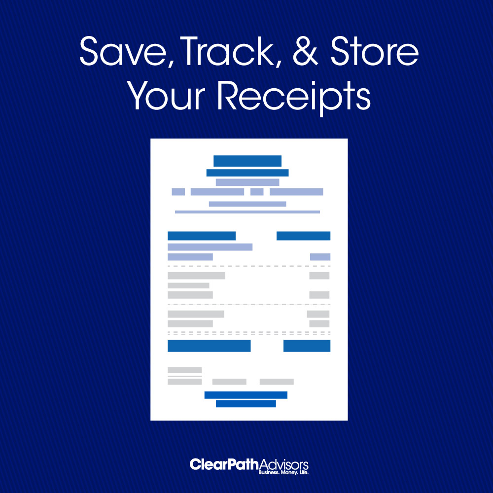 store and organize receipts