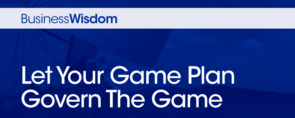 CPA Business Wisdom Game Plan Govern The Game