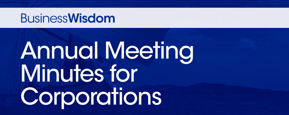 Annual Meeting Minutes for Corporations